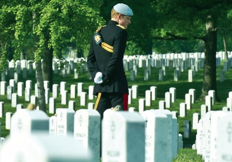 Prince Harry of Britain visits Arlington National Cemetery
