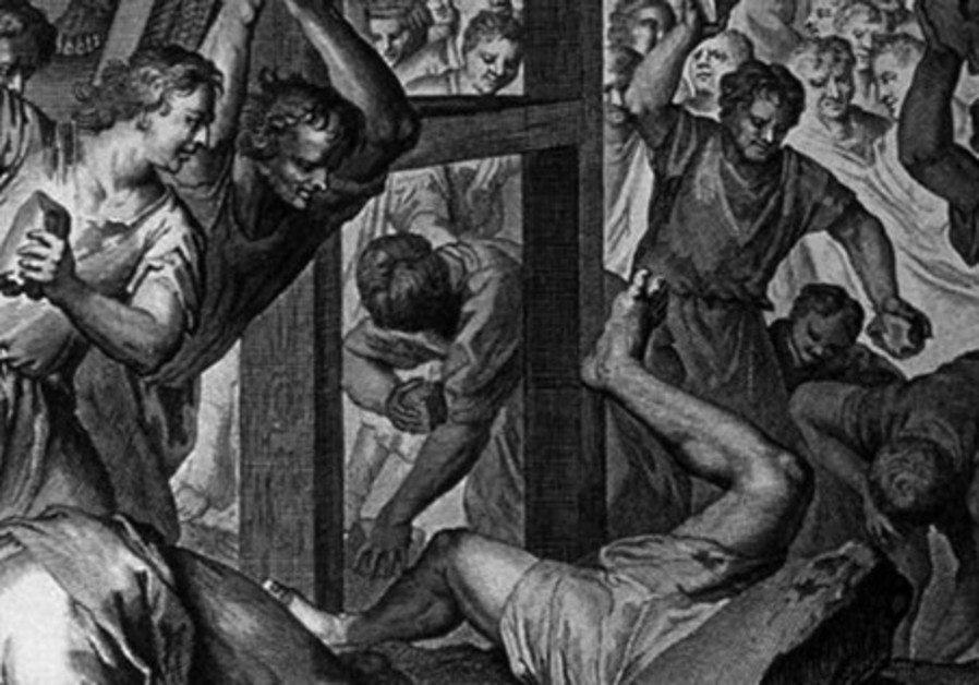 'The Blasphemer Stoned,' by Gerart Hoet, 1728