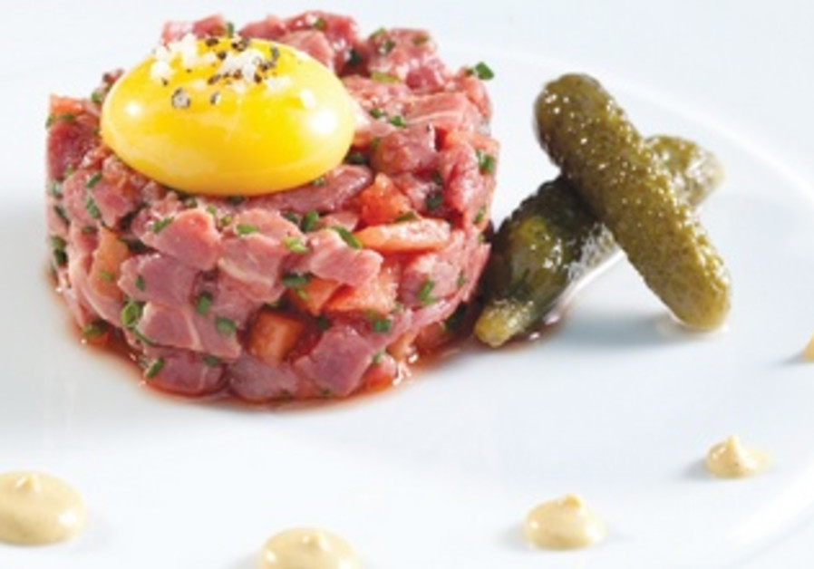 Meat Tartar with Pickled Watermelon
