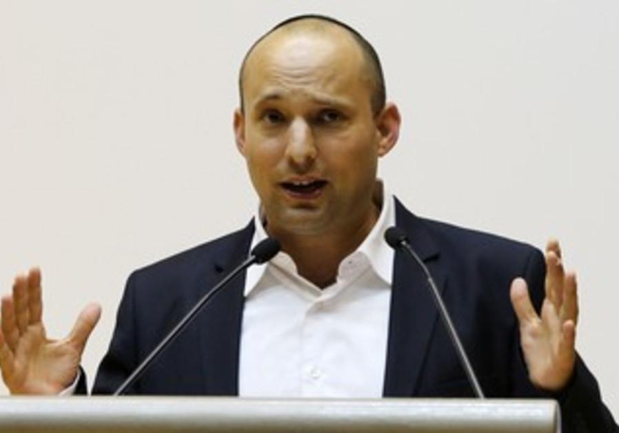 Economy and Trade Minister Naftali Bennett.
