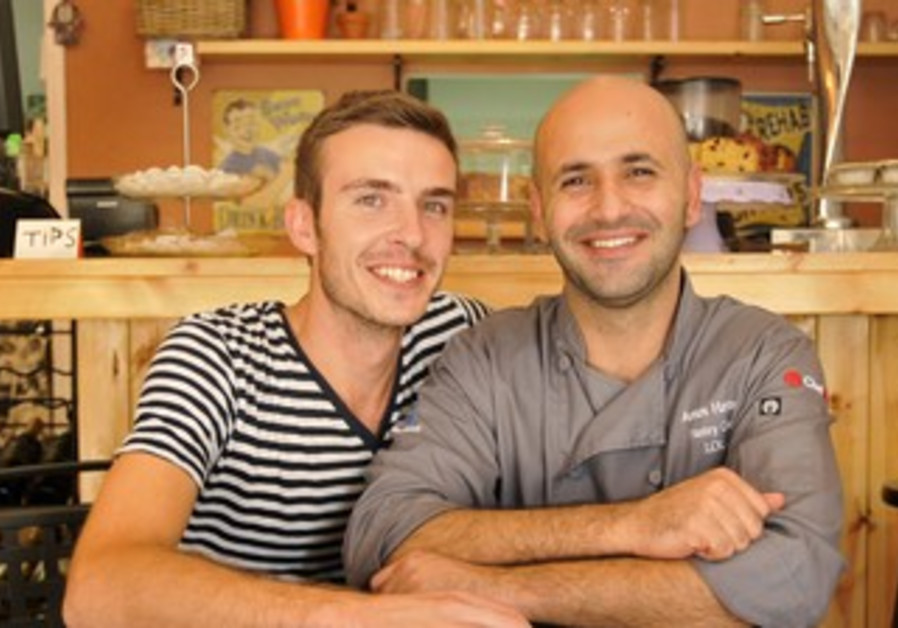 Amos and Christopher of Christopher's Cafe in Jaffa