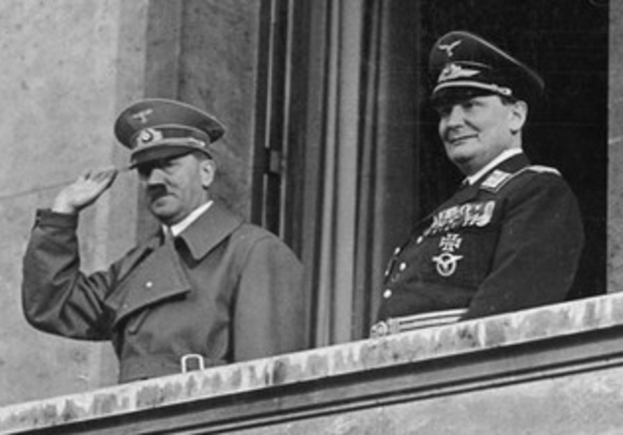 THE FUEHRER and his front-man: Hitler and Goering on March 16, 1938.