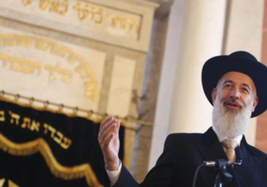Former chief rabbi Yona Metzger