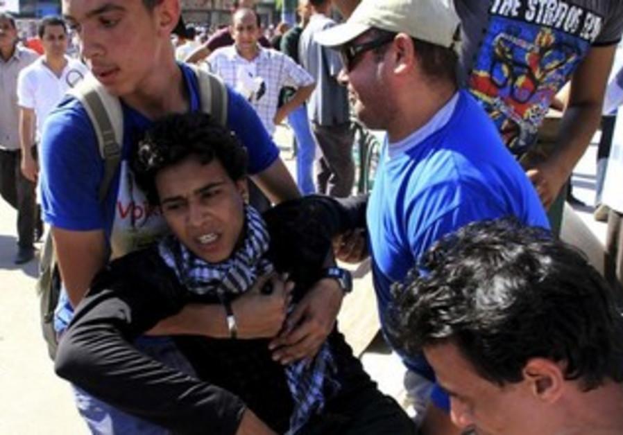 Protesters demonstrate in Sedy Gaber in Alexandria, June 28, 2013