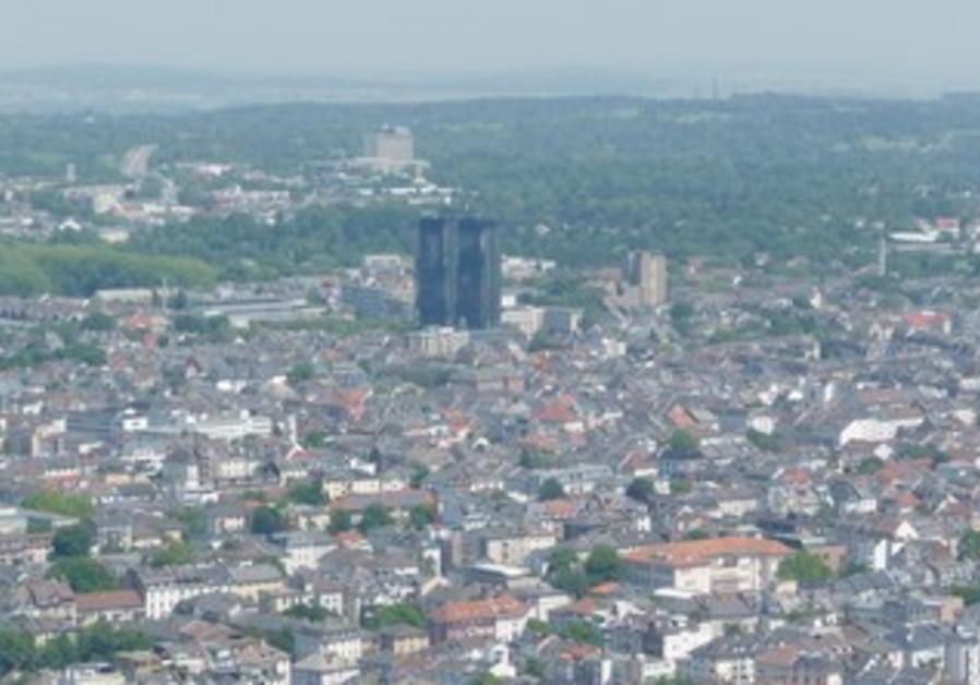 An scenic view of Frankfurt.