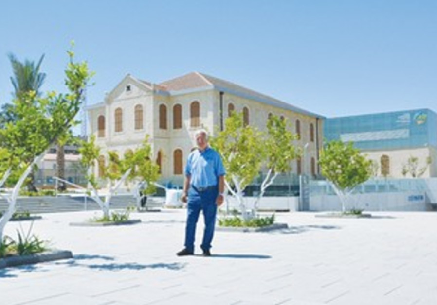 HUBERT LEVEN, president of the Rashi Foundation, stands outside Carasso Science Park.