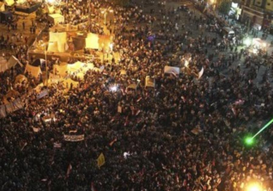 Anti-Morsi protesters gather in Tahrir Square