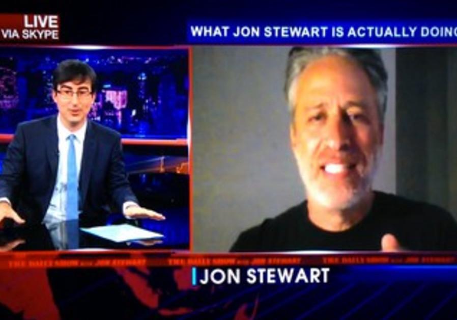 Jon Stewart via Skype