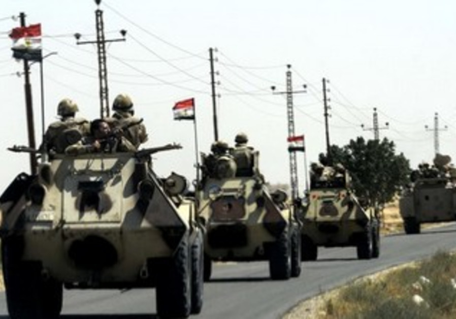 Egyptian army in El-Arish [file].
