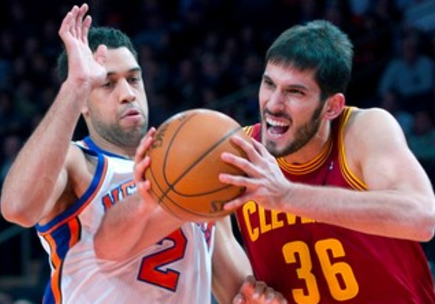 Omri Capsi in action against the New York Knicks