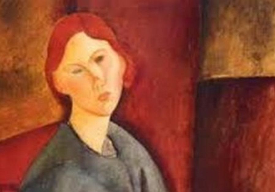 ITALIAN-JEWISH-Jewish artist Amedeo Modigliani's 'Portrait de Anne Bjarne' sold for $8.6 million.