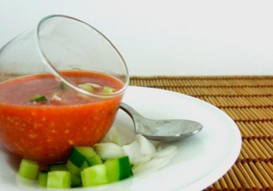 Watermelon and Tomato Gazpacho