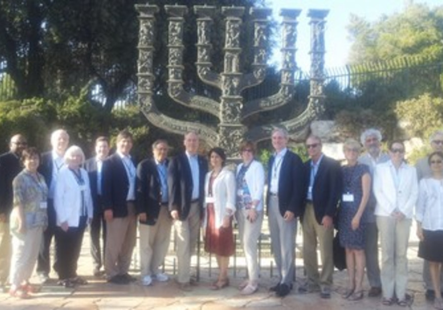 The American University Presidents and Chancellor at the Knesset.