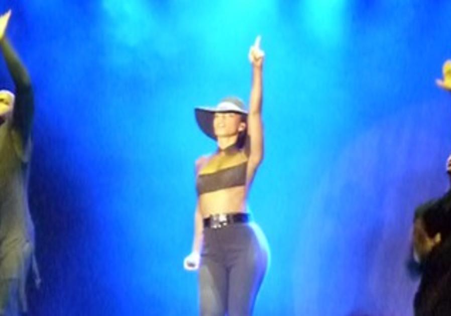 Alicia Keys performing in Tel Aviv, July 4, 2013.