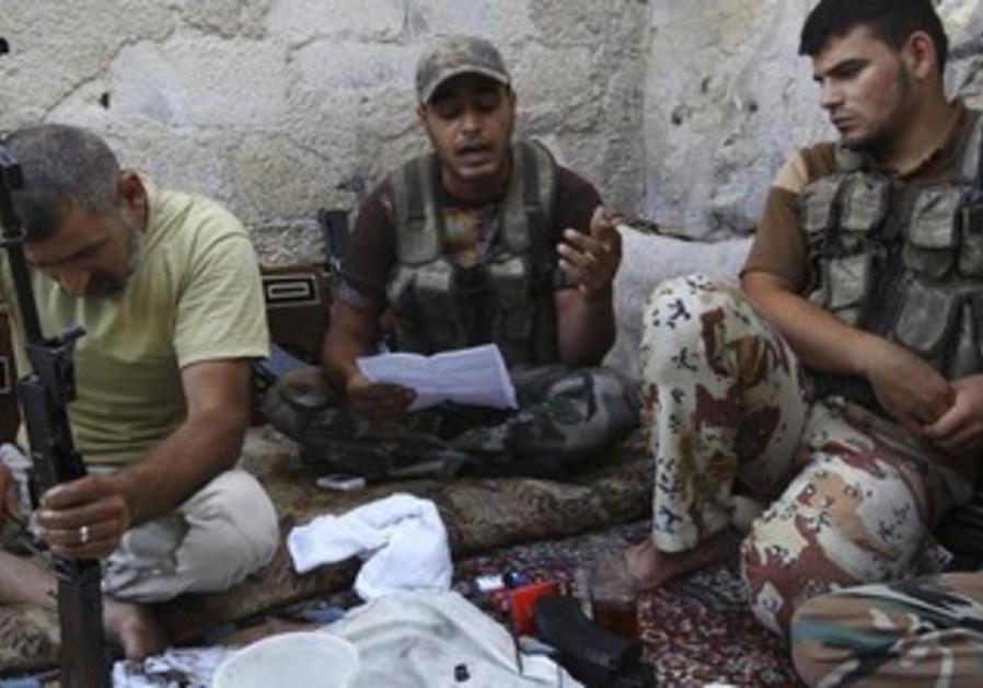 Free Syrian Army members, Aleppo, July 4, 2013.