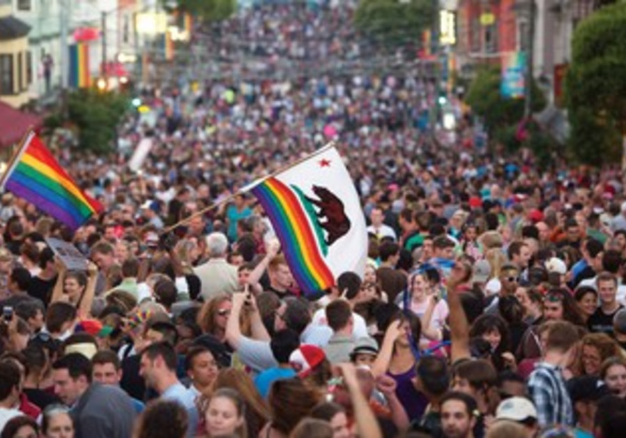 San Francisco after hearing of the US Supreme Court's decision on the Defense of Marriage Act.