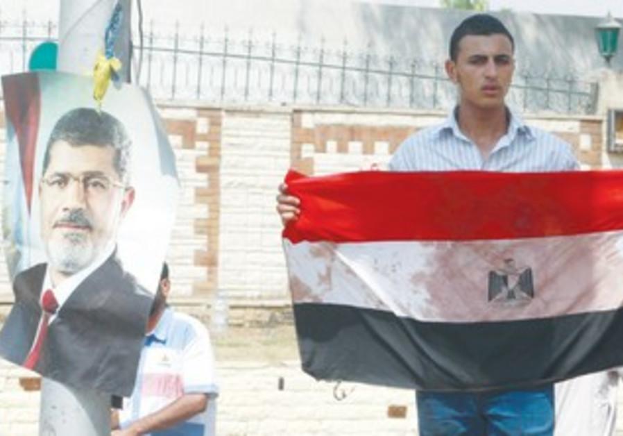 An Egyptian supporter of Mohamed Morsi