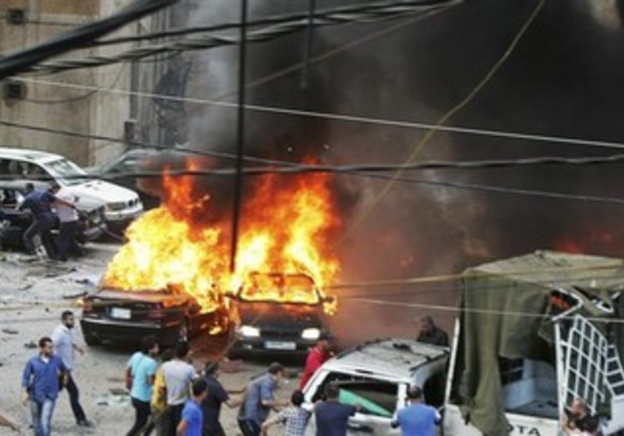 Explosion in Hezbollah stronghold in South Beirut, July 9, 2013