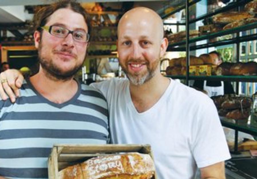 Chef Yogev Yehros and baker Yaron Schneller