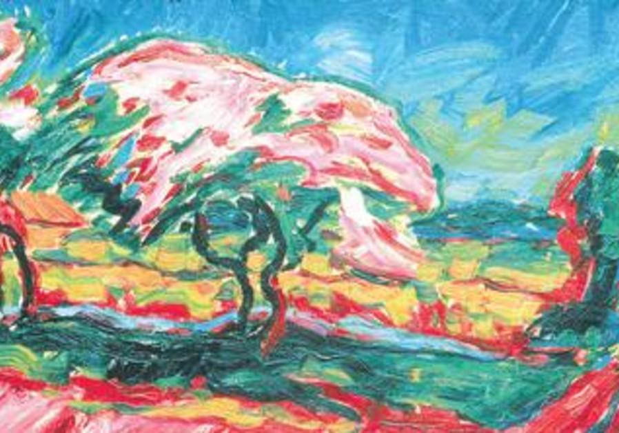 Karl Schmidt-Rottluff, Blooming Trees, 1909