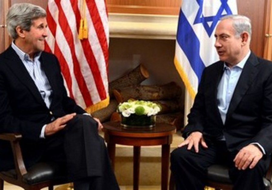 US Secretary of State John Kerry and Prime Minister Binyamin Netanyahu, June 27, 2013.