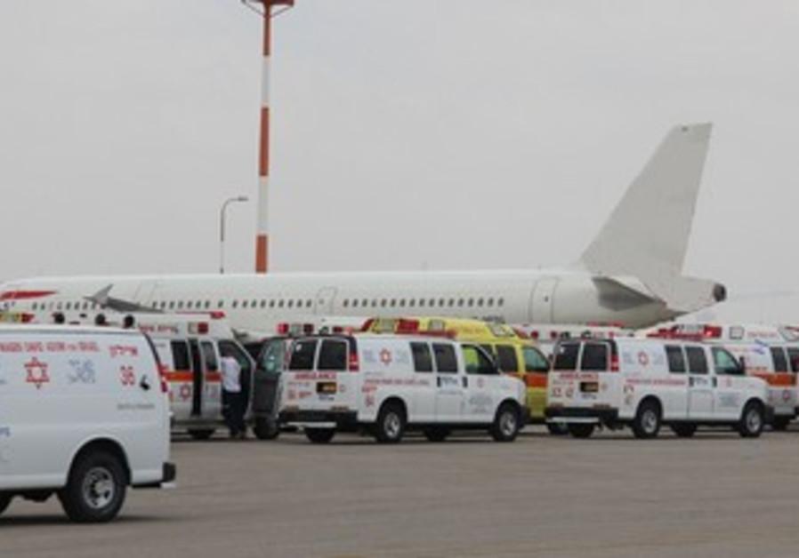 A plane at Ben Gurion Airport.