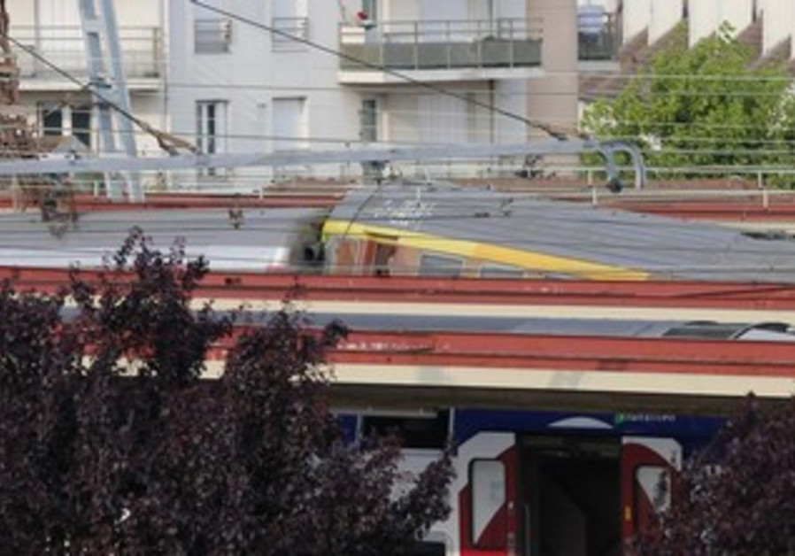 French train that derailed at the Bretigny-sur-Orge station, July 12, 2013.