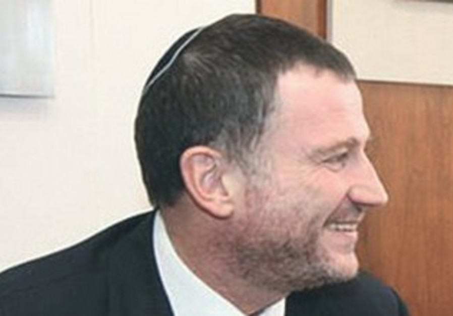 Yuli Edelstein sports a beard.