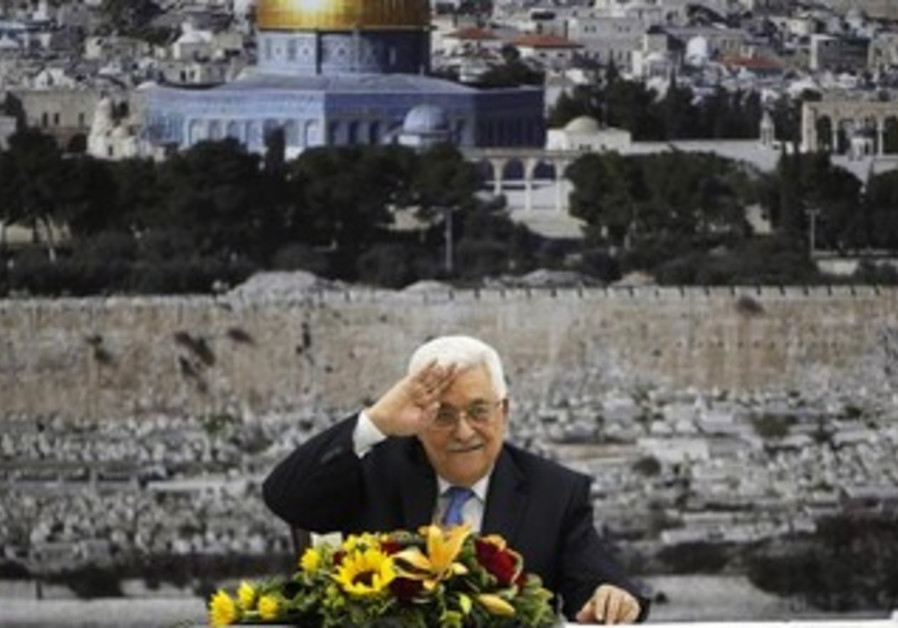 PA President Mahmoud Abbas at a PLO meeting in Ramallah, July 18, 2013.