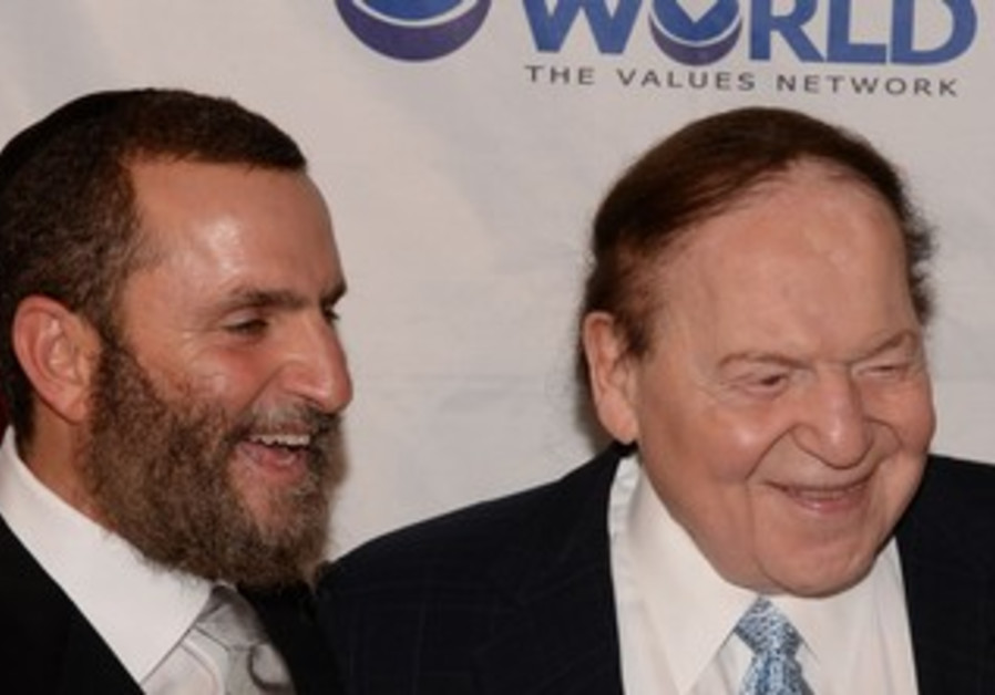 Rabbi Shmuley Boteach and Sheldon Adelson