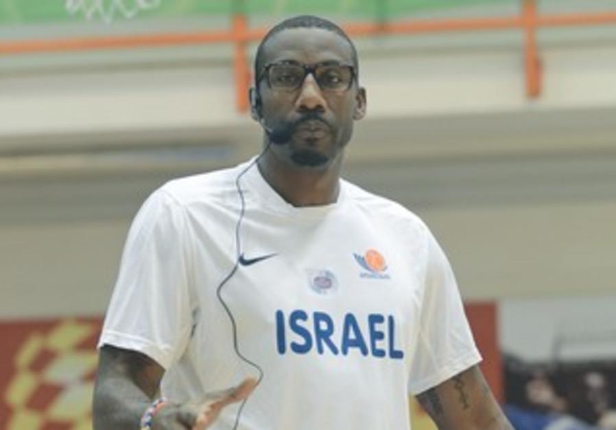Amar'e Stoudemire running basketball drill in Tel Aviv.