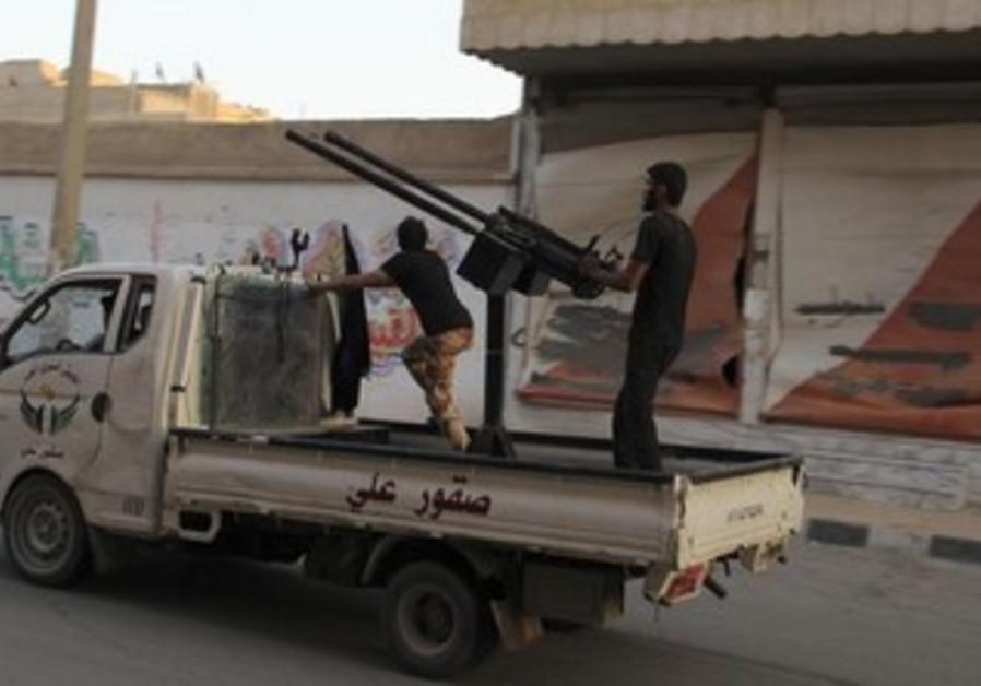 Free Syrian Army fighter in Deir al-Zor