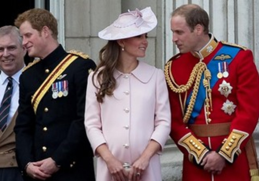 Prince William and Catherine at Buckingham Palace June 15, 2013.