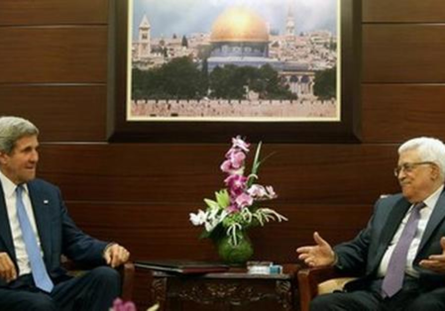 John Kerry meets with Mahmoud Abbas