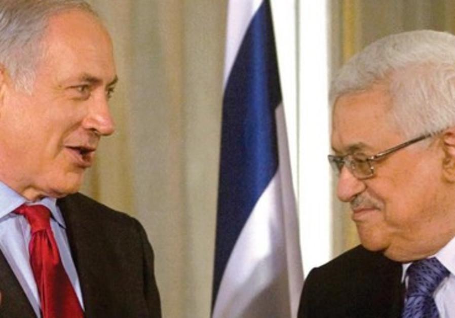 Le Premier ministre Binyamin Netanyahou et le chef de l'AP Mahmoud Abbas, en 2010.