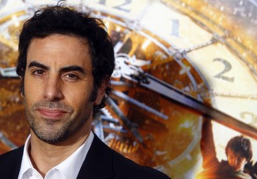 "Actor Sacha Baron Cohen attends the premiere of ""Hugo"""