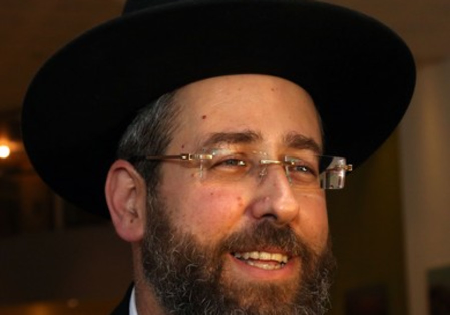 Rabbi David Lau, July 24, 2013.