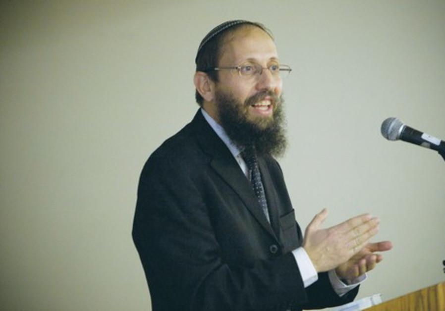 Rabbi Yosef Zvi Rimon, a rabbi in Alon Shvut, in Gush Etzion.