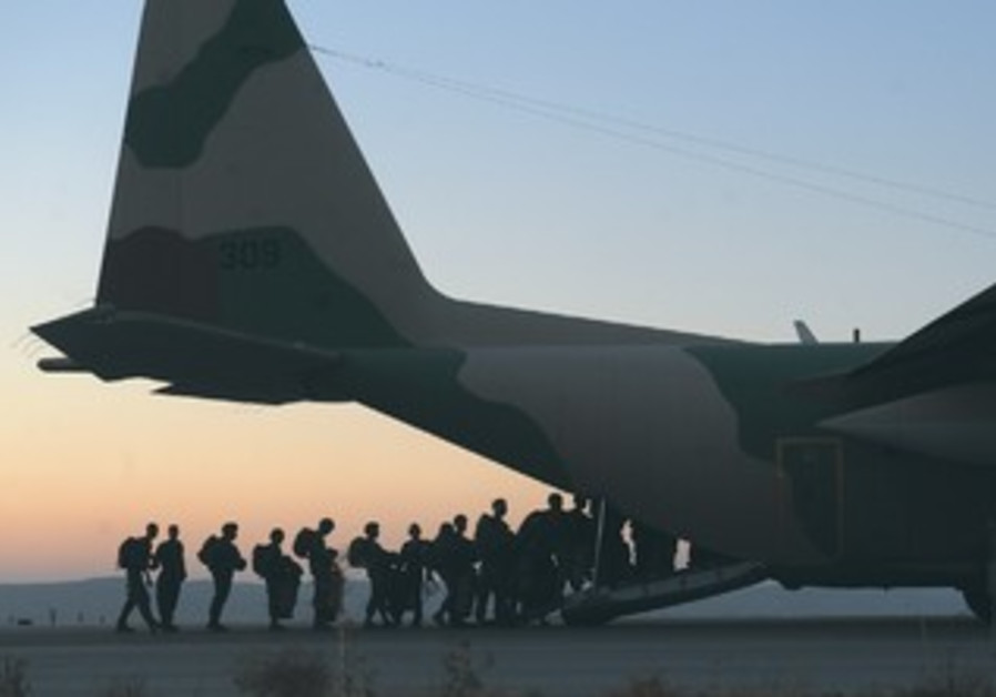 IDF paratroopers drill
