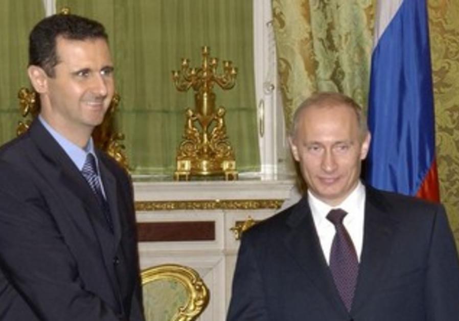 Syrian President Bashar Assad with Russian President Vladimir Putin.