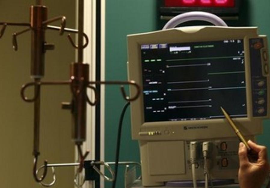 Electrocardiograph (EKG) machine.