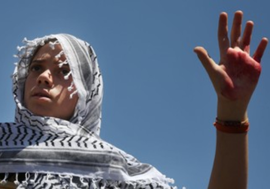 Israelis protesting Palestinian prisoner release July 28, 2013.