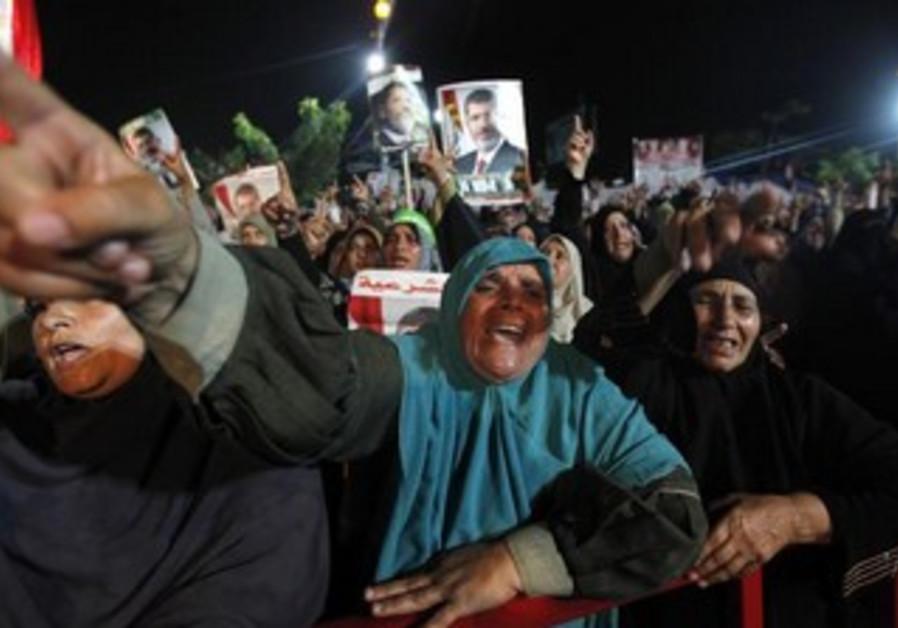 Supporters of deposed Egyptian President Mohamed Morsi.