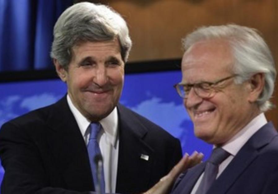US Secretary of State John Kerry and Martin Indyk