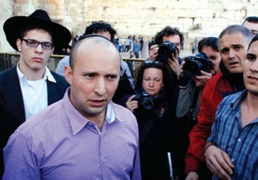 Naftali Bennett a menacé de quitter la coalition si la loi sur le référendum n'était pas adoptée.