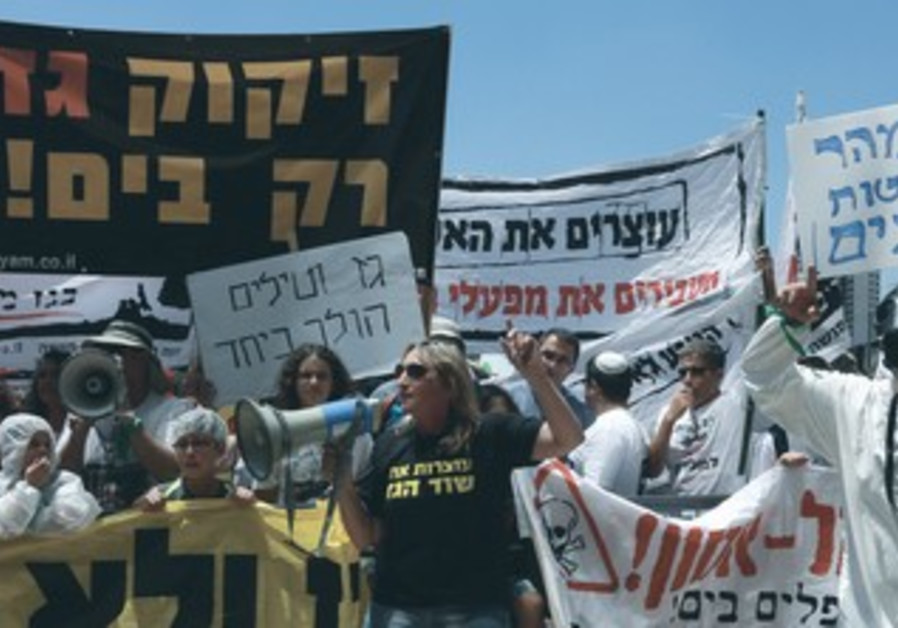 Carmel and Emek Hefer residents protest against natural gas treatment sites
