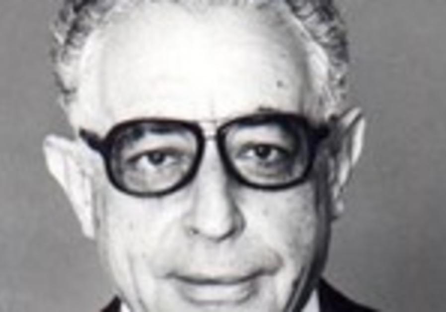 Former Knesset speaker Yitzhak Berman