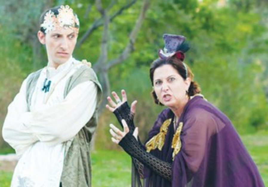 JOSH BLOOMBERG (left) and Tamar Naggan in a scene from Theater in the Rough's 'Richard III.'