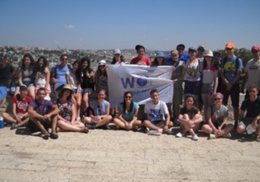 Jewish teenagers in Israel for special youth leadership training program.