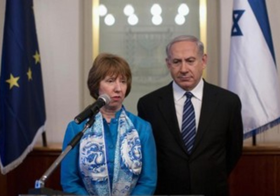 EU foreign policy chief Catherine Ashton and Prime Minister Binyamin Netanyahu, June 20, 2013.